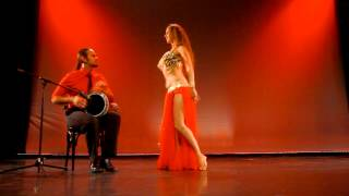 getlinkyoutube.com-Sadie Bellydance and David Hinojosa Drum Solo Berlin 2015