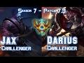 JAX CHALLENGER vs DARIUS CHALLENGER Top - Patch 7.3 KR Ranked