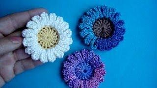 getlinkyoutube.com-Вязаные цветы Урок 40 Сrochet flower pattern