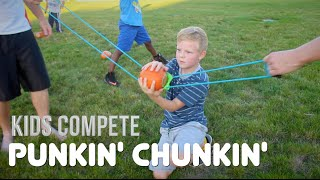 getlinkyoutube.com-PUMPKIN LAUNCH CONTEST   Kids Compete!