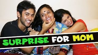 getlinkyoutube.com-Mihika Varma and Mishkat Varma surprises their Mom on Mother's Day