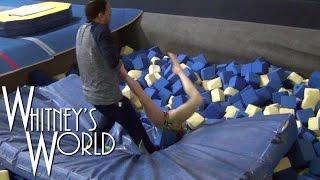 getlinkyoutube.com-Yurchenko Vault Training | Stuck Upside Down in the Foam Pit | Whitney Bjerken