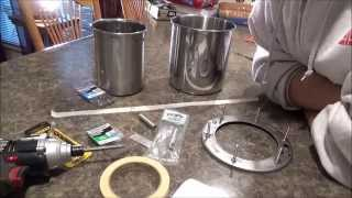 getlinkyoutube.com-1/3 $25 Diy How To Stainless Steel Wood Pellet Gasifier Stove Cheap Easy Portable Just Put Together.