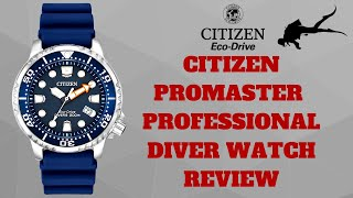 getlinkyoutube.com-Citizen Promaster Professional Divers Watch Review Model: BN0151-17L
