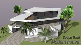 getlinkyoutube.com-Google Sketchup Speed Building - Modern house