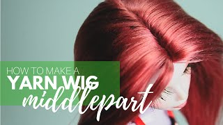 getlinkyoutube.com-How to Make a Yarn Wig for your Dolls: Middlepart