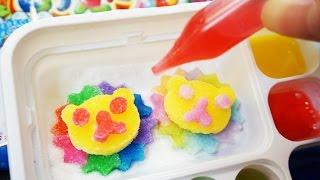 getlinkyoutube.com-포핀쿠킨 미니어쳐 가루쿡 오에카키구미랜드 코나푼 식완 Oekaki Gummy Land Popin Cookin Konapun Cooking Toys おえかきグミランド
