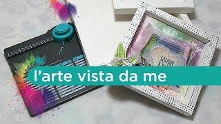 Cornice 3D-Shadow box con Envelope Punch Board-Scrapbooking Tutorial-Cornice Fai da te