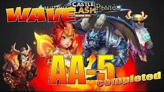 getlinkyoutube.com-Castle Clash/Битва Замков, Волна АА пройдена без дракона и гарпии, Wave AA