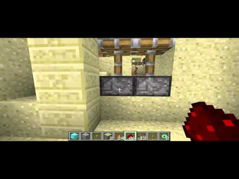 Minecraft Zaragoza - Tutorial Avanzado Redstone - Puerta Espiral Oculta + Apertura de OJO