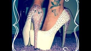 getlinkyoutube.com-decoracion de zapatos con cristal swarovski