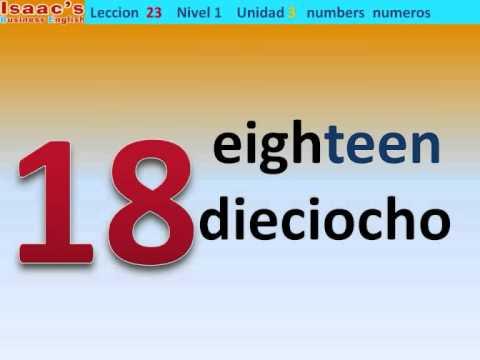 Curso de Ingles gratis  23. nivel 1  numeros  numbers