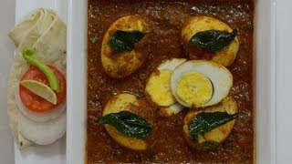 Eggs in Spicy Chettinad Masala..