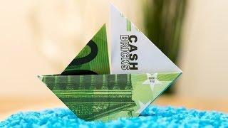 getlinkyoutube.com-Geldschein falten Segelboot ⛵ Origami Anleitung Deutsch
