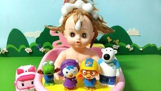 getlinkyoutube.com-뽀로로와 똘똘이의 목욕놀이 ★뽀로로 장난감 애니