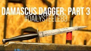 getlinkyoutube.com-MAKING A DAMASCUS DAGGER #3! Fairbairn Sykes Style