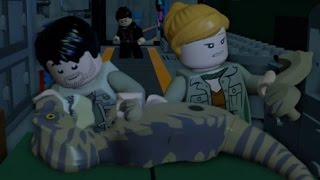 getlinkyoutube.com-LEGO Jurassic World Walkthrough Part 7: InGen Arrival (The Lost World)