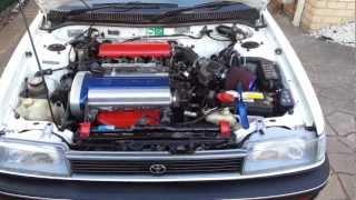 getlinkyoutube.com-AE94 Toyota Corolla 4AGE 20V Silvertop - Engine clicking sound