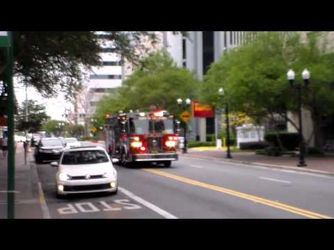 Orlando Fire Department Engine 101 Responding
