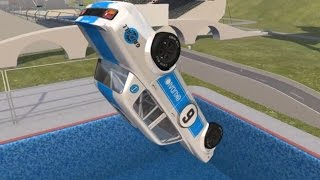 Car Jump Arena - Part 3 (Tower Diving)   BeamNG.drive