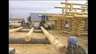 getlinkyoutube.com-Foundation, sill log layout, floor joist - How to build a Log house