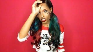 getlinkyoutube.com-Halo Lady Hair ( AliExpress ) Brazilian Loose Deep Wave with Lace Frontal