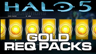 getlinkyoutube.com-Halo 5: Guardians GOLD REQ Pack Opening! 32 Gold REQ Packs!