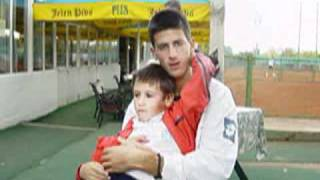 getlinkyoutube.com-Djordje and Novak Djokovic at age of 13 [EXCLUSIVE] Singing ne spavaj mala moja...