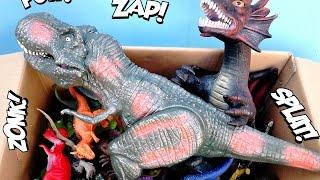 getlinkyoutube.com-Dinosaur Box Toys,  T Rex Puppet Toy, Big Dragon For Kids, Jurassic Dinosaurs
