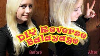 getlinkyoutube.com-DIY- Reverse Balayage on Platinum Blonde Hair