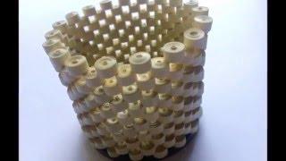 getlinkyoutube.com-How to make pen stand using paper strips