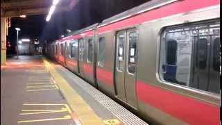 getlinkyoutube.com-西船橋駅 武蔵野線209系発車からの京葉線209系発車 【貴重】
