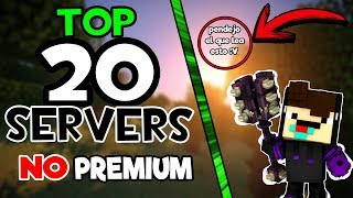 getlinkyoutube.com-TOP 20 MEJORES SERVERS DE MINECRAFT NO PREMIUM 1.9 1.8 1.7 | 2016