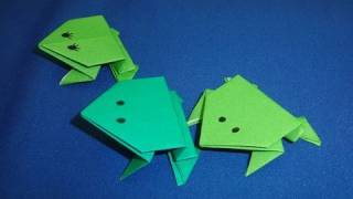 getlinkyoutube.com-How to Make Action Origami Jumping Frogs