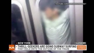 "getlinkyoutube.com-NYC: Subway Surfing is ""stupid and dangerous"""