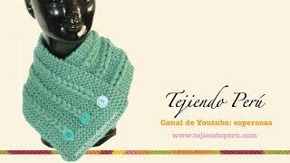 getlinkyoutube.com-Cuello con trenzas de vainillas tejido en dos agujas