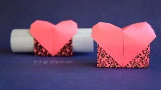 getlinkyoutube.com-Origami Heart -Valentine's  Messenger