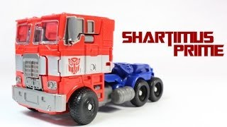 getlinkyoutube.com-Transformers 4 Age of Extinction Optimus Prime Evasion Mode Voyager Class Movie Action Figure Review