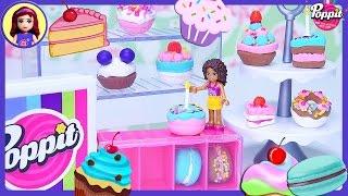 getlinkyoutube.com-Poppit Pop'n'Display Bakery DIY Clay Cakes Donuts Macarons Create Silly Play - Kids Toys