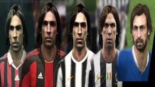 getlinkyoutube.com-Andrea PIRLO from PES 3 to PES 2014 (Face Evolution)