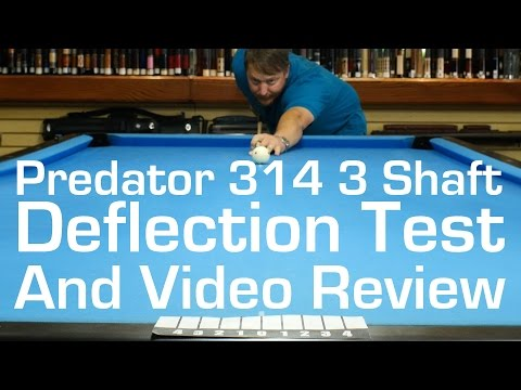 Predator 314 3 Deflection Test - Video Review by Select Billiards