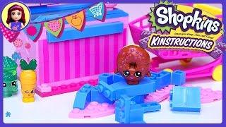getlinkyoutube.com-Shopkins Kinstructions Checkout Lane Build Review Silly Play - Kids Toys