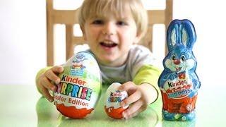 getlinkyoutube.com-Kinder Surprise BIG Egg vs Kinder Surprise Bunny