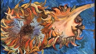 How to paint  Vincent Van Gogh Sunflowers  part 1
