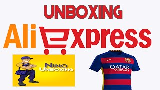 getlinkyoutube.com-AliExpress Unboxing Camisa Barcelona 2015/16