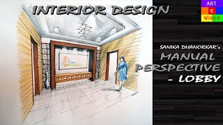 getlinkyoutube.com-Manual Rendering | 2-point Interior Design Perspective Drawing & Rendering | Tutorial | Watercolour