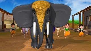 getlinkyoutube.com-Enugamma Enugu - Elephant 3D Animation Telugu rhymes with Lyrics for children
