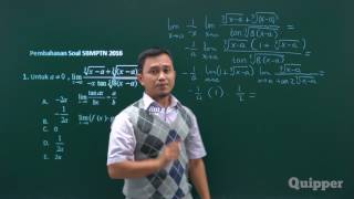 Quipper Video - Limit Trigonometri - Persiapan SBMPTN Matematika IPA 2017