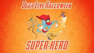 getlinkyoutube.com-Oggy and the Cockroaches - Live Halloween Compilation #Super-Hero