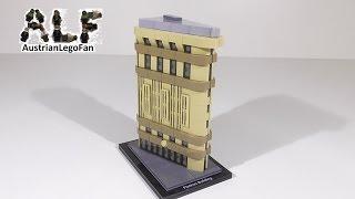 getlinkyoutube.com-Lego Architecture 21023 Flatiron Building - Lego Speed Build Review